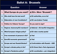 Image: Ballot A - More power to Brussels!