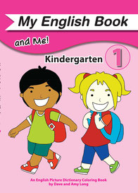 EFL kindergarten text english picture dictionary coloring book
