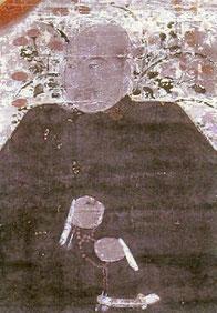 九条兼実画像。京都市東山区・知恩院蔵。