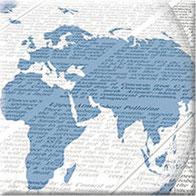 Printmedien, Weltkugel, Zeitung