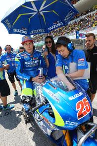 Maverick Vinales in der Startaufstellung der MotoGP in Mugello