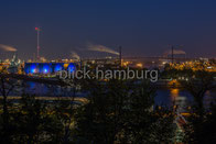 Blaue Stunde: Köhlbrandbrücke