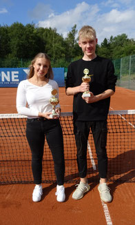 Franziska Mueller & Finn Hoppe Vereinsmeister Juniorinnen/Junioren