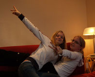 Malika und Karla im November 2005