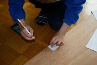 Einzeilteile auf das Sperrholz übertragen