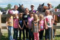 Girl Scout Troops 50279 & 66-768 spent the morning enjoying horses.