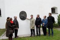 Erinnerungstafel an König Christoph - an der Auußenmauer der Residenz / Foto: Dr. Franz Janka