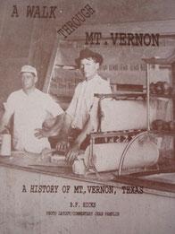 Cover of A Walk Through Mount Vernon: A History of Mount Vernon, Texas