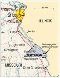 Perry County, das Siedlungsgebiet der Stepanianer