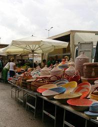 Der Markt von Portoferraio - auch bei Regen einen Besuch wert!
