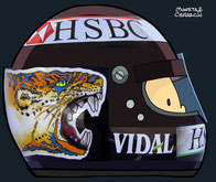 Helmet of Eddie Irvine by Muneta & Cerracín