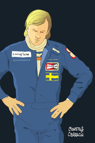 Ronnie Peterson by Muneta & Cerracín en Monza en 1976
