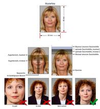 Visumfotos für andere Länder