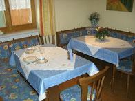 Frühstücksraum auch für Gäste der Ferienwohnungen die keine Lust haben das Frühstück zu machen