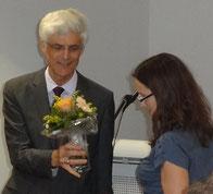 Dr. Johann Sjuts dankte Tina Redius für ihr Engagement. Foto: Ulrichs