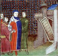 Jean IV Par Jean Froissart. B. M. Besançon, MS 865, f. 408 v° (détail), wikimedia.org/w/index.php?curid=6208992