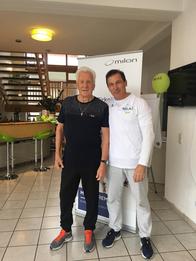 In der Vorbereitung auf die Hallen-WM 2019: Franz Gries und Rolf Kropka