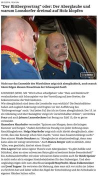 Der Rittbergbervertrag - Bericht auf meinbezirk.at Melk