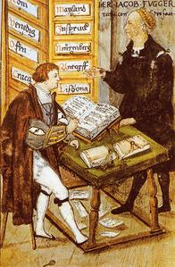 Jakob Fugger mit M.Schwarz im Kontor