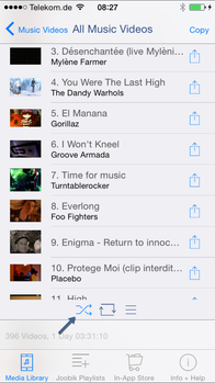 Joobik Player iPhone shuffle Playlist