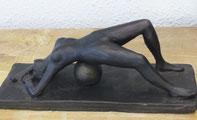 sculpture femme nu patine bronze
