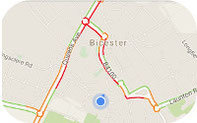Google Live Traffic for Oxfordshire