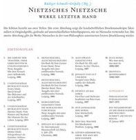 Nietzsche Gesammtausgabe Editionsgeschichte