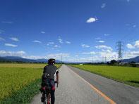 長閑な田園風景を見ながら快走!気持ちいい!!