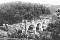 Die zweite Wasserbaubrücke über die Zschopau