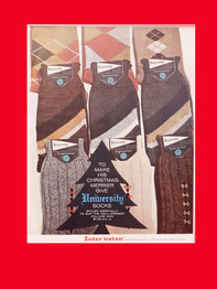 University socks, American