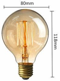 lampadina #vintage #G80 #60watt