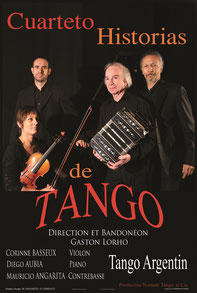 Affiche Cuarteto Historias de Tango