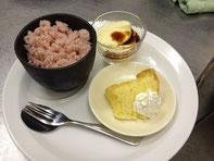 苺ソルベ+とろーりプリン+甘夏シフォン