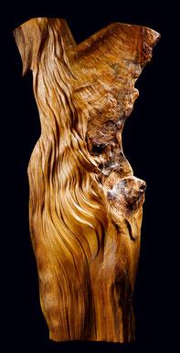 sculpture bois ciré