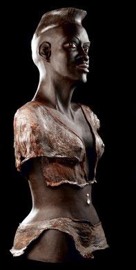 Argile patinée et résine - Ethnique - Afrique