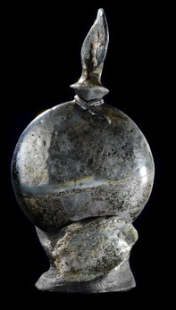 Sculpture, céramique Raku, Terre enfumée