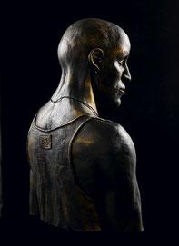 Argile rouge patinée bronze