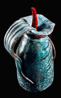 Pot à eau, raku, céramique, décoration, utilitaires