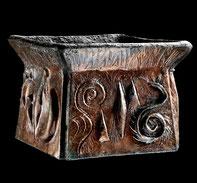 Argile Raku ethnique décoration pot