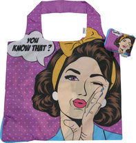 Chilino Bag Tasche Madame Deluxe Popart Frau Lady Dame, violett