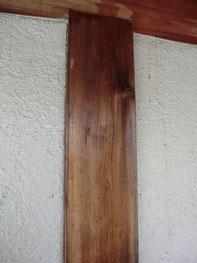 木部のアク洗い【施工前】