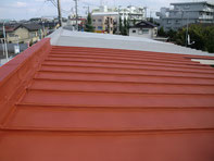 屋根塗装:施工中