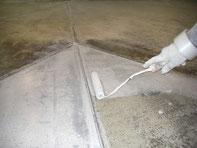 美容室 店舗床塗装 下塗り