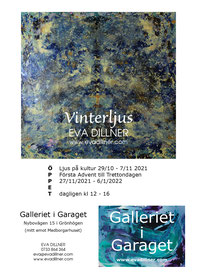 Vinterljus på Galleriet i Garaget i Grönhögen