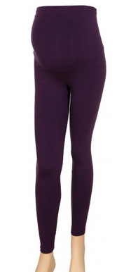 purple maternity legging