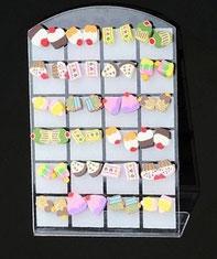Boucles d'oreilles gâteaux en pâte polymère Fimo 12 modèles