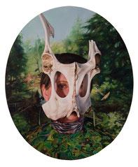 """Jennifer Nehrbass,  """"Tasting Juniper"""", Öl auf Leinwand, 91x76 cm, 2010"""
