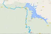 Übersichtskarte - Anfahrt von uns aus zum Puerto de las Palomas (c) Google Maps