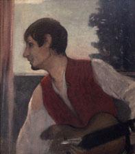 Otto Mueller: Selbstporträt als Gitarrenspieler