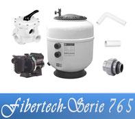 Bausatz Filteranlage Fibertech Serie D765 Fiberplast mit Filterpumpe Sta-Rite